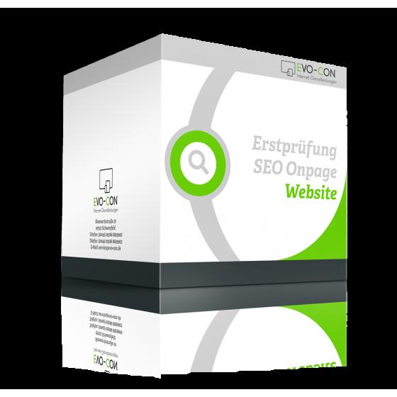 Erstprüfung Suchmaschinenoptimierung Onpage - Webseite Box