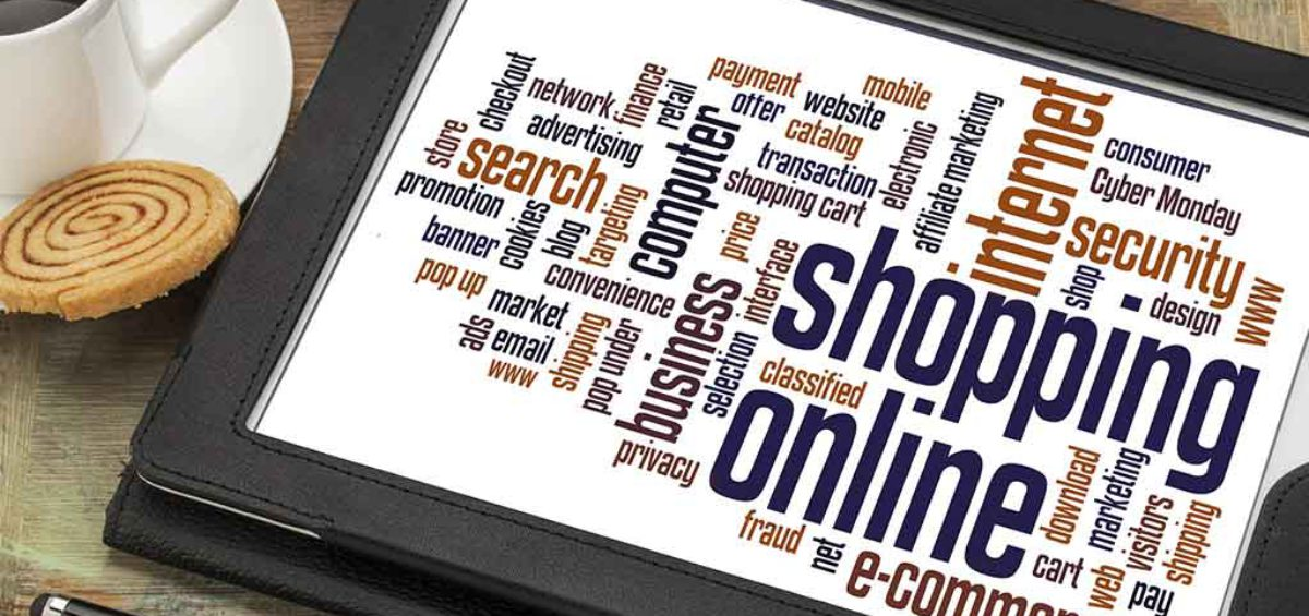 online shopping mit tablet