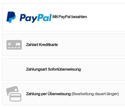10. Zahlungsarten Onlineshop