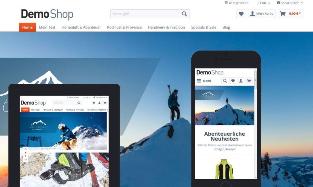 Shopware responsive Onlineshoperstellung