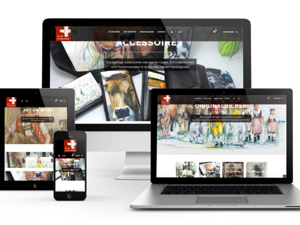 Art of Switzerland-Neugestaltung des OnlineShops