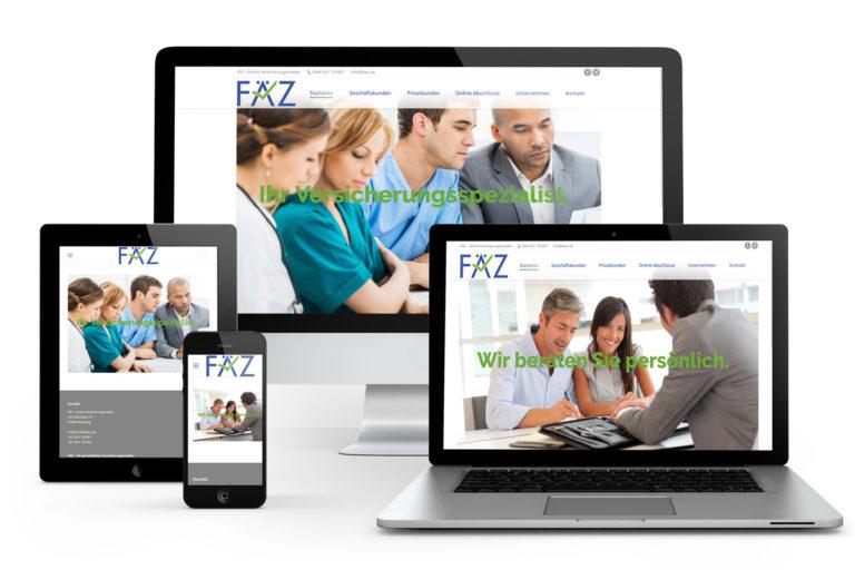 Webseitenerstellung für Versicherungsspezialisten FÄZ