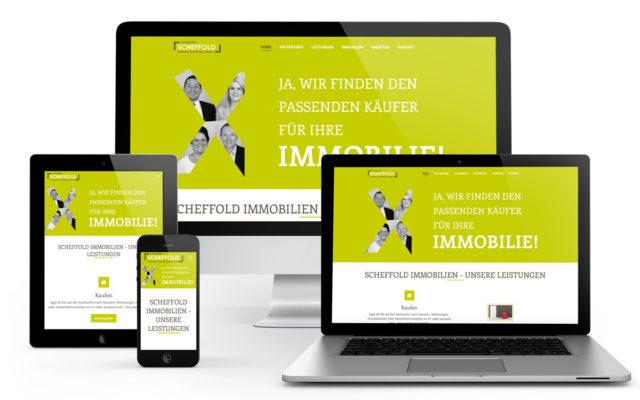 Webseiten Erstellung für Scheffold-Immobilien auf Wordpress Basis