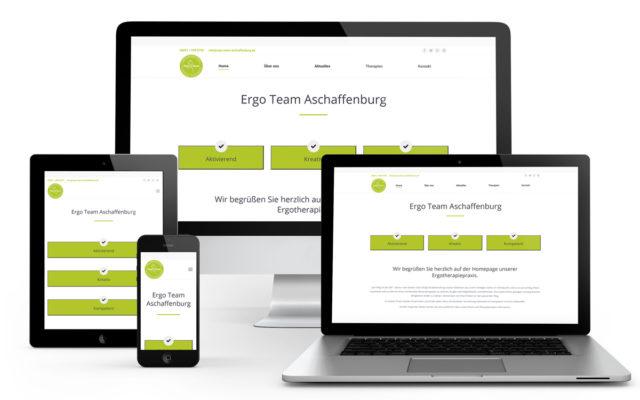 Webseiten-Erstellung für das ErgoTeam Aschaffenburg auf Wordpressbasis.