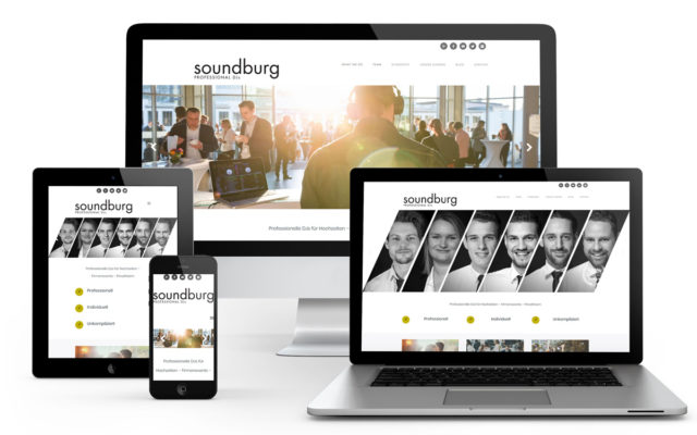 Erstellung der Website auf Wordpress-Basis für Soundburg.