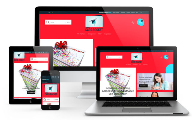 Onlineshopprogrammierung mit dem PrestaShop System für Card-Rocket.com