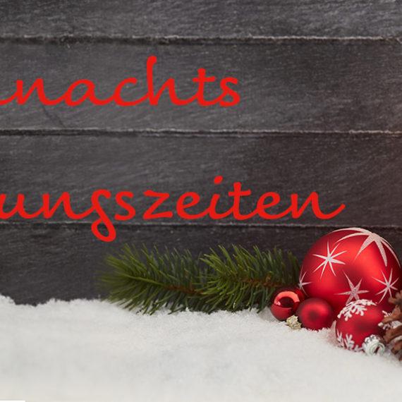 Weihnachten, Support, Öffnungszeiten