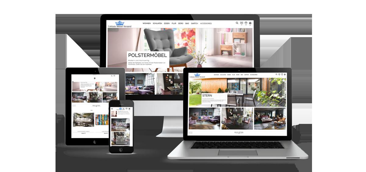 Verkauf des Onlineshop - www.exklusiv-moebel-versand.de - EVO-CON
