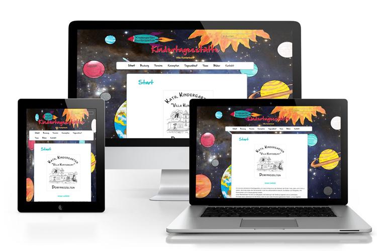 ref-kiga erstellen der website