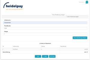 Screenshot Checkout Heidelpay