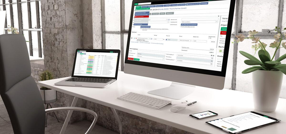 Erleichtern Sie Ihre Arbeitsprozesse im Homeoffice und vor Ort mit einem ERP-System inkl. CRM
