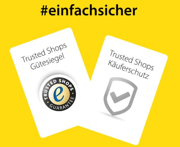 einach und sicher: Trusted Shops Gütesiegel und Käuferschutz