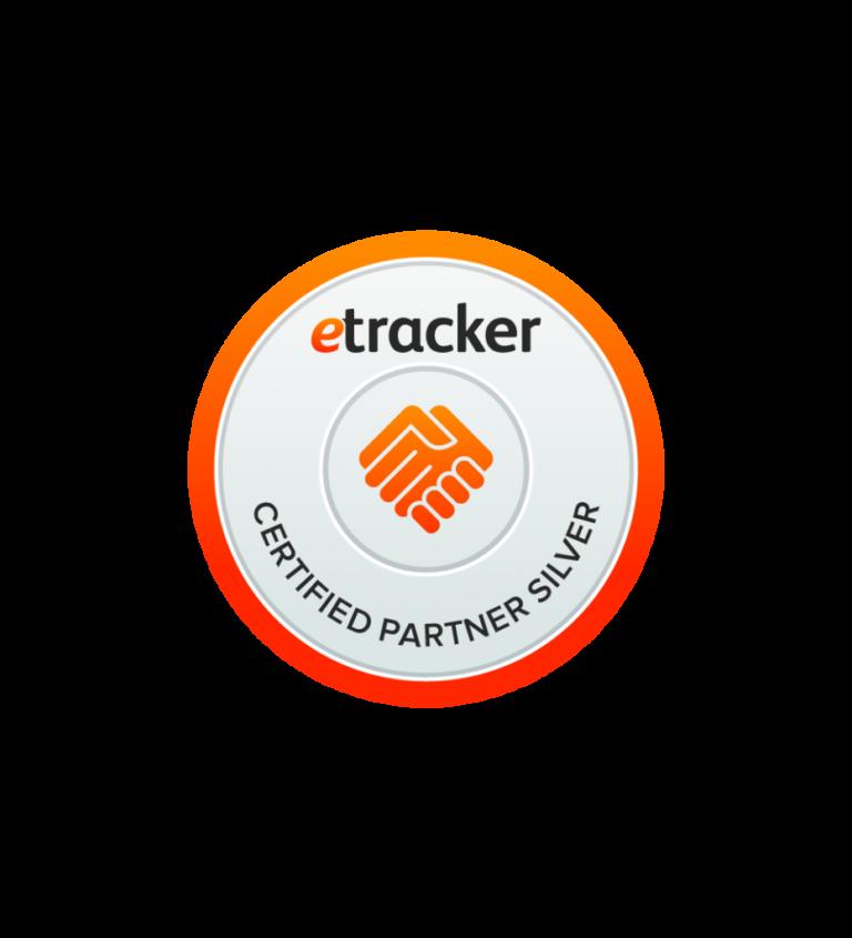 Etracker certified Partner silver Badge